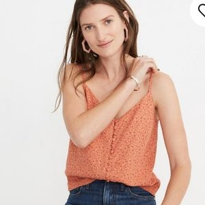 Madewell Button Down Cami in Playground posies